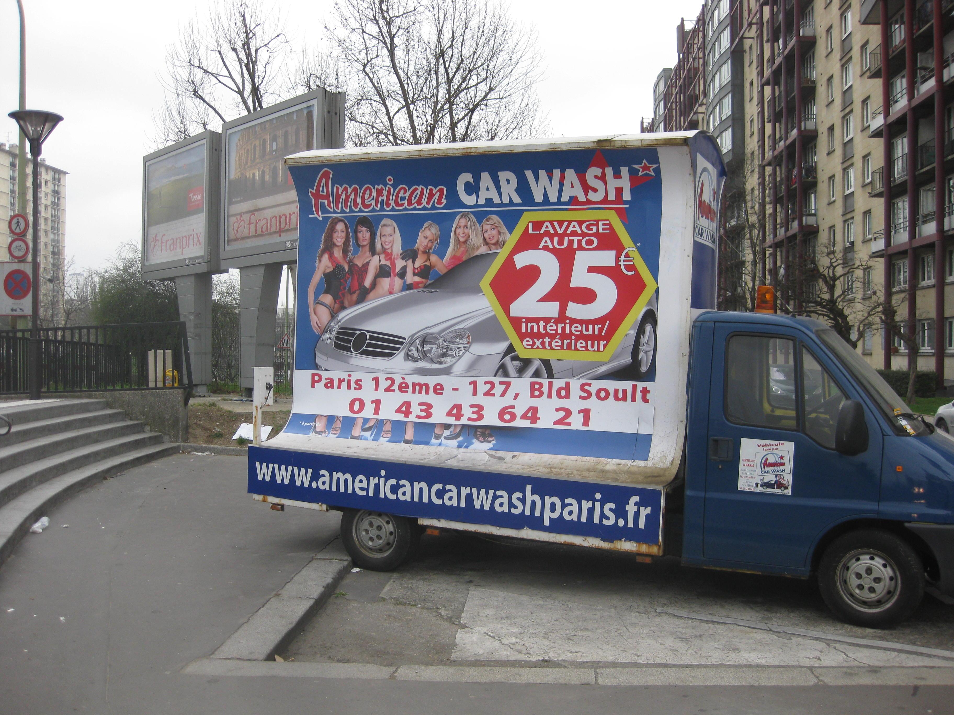 american car wash affichage jdp. Black Bedroom Furniture Sets. Home Design Ideas